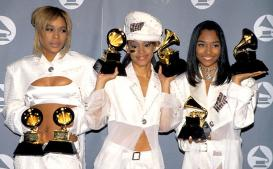 "T-Boz, Lisa ""Left Eye"" Lopes and Chilli of TLC (Photo by Jim Smeal/WireImage)"