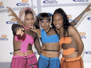 "T-Boz, Lisa ""Left Eye"" Lopes and Chilli of TLC during Nickelodeon's 12th Annual Kids Choice Awards at UCLA Pauley Pavillion in Westwood, California, United States. (Photo by Ron Galella/WireImage)"