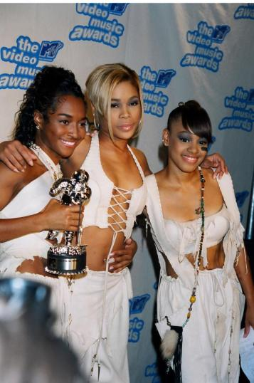 "Rozonda ""Chilli"" Thomas, Tionne ""T-Boz"" Watkins and Lisa ""Left Eye"" Lopes of TLC (Photo by Jeff Kravitz/FilmMagic, Inc)"